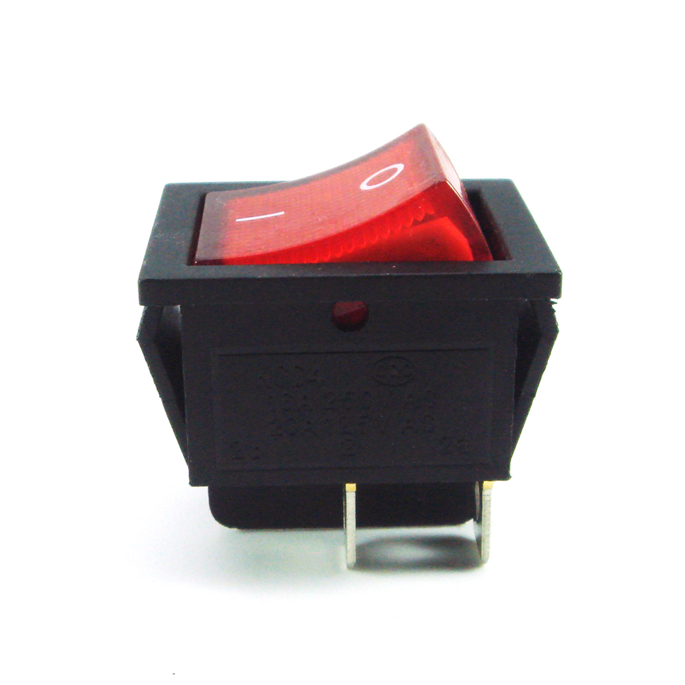 5pcs/lot Red Light 4 Pin DPST ON/OFF Snap in Rocker Switch 16A/250V ...