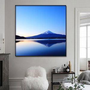 Image 3 - Cuadro de Arte de lienzo pintura al óleo moderna decoración del hogar Fuji paisaje de montaña póster e impresiones pasillo de hotel Impresión de marco de arte mural