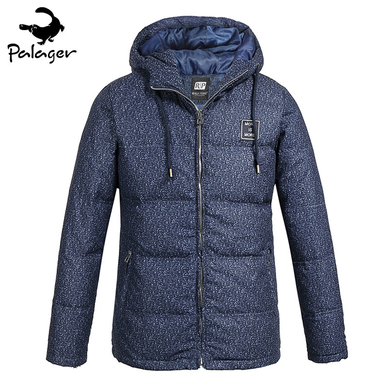 Palager 2017 Mens Hooded Parka Warm Coats White Duck Down Jacket Fashion Korean Style Polyester Winter Parkas Puffer Outerwear mens winter warm down coat ultra light white duck down jacket men hooded outdoors portable coats parka plus size xxxl