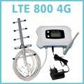 NOVA moda! 4G LTE sinal móvel impulsionador 800 mhz de alto ganho 4g repetidor de sinal amplificador kit com LCD + 350 metros quadrados de cobertura