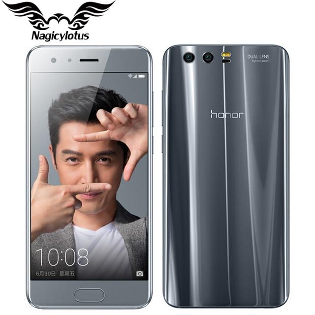 """Оригинальный Huawei Honor 9 4 г LTE Мобильного Телефона 5.15 """"KIRIN 960 Octa Core 6 ГБ ОЗУ 64 ГБ ROM двойной сзади 1920*1080 P отпечатков пальцев NFC"""