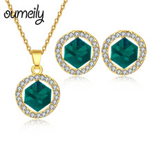 OUMEILY Jewelry Sets Women Fashion African Beads Jewelry Set in Gold Color Indian Jewelry Set Bridal Antique Turkish Jewellery(China)