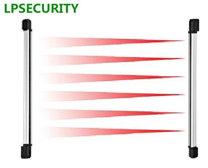 LPSECURITY 120cm height Waterproof Wired 6 Beam 100m Active Infrared Beam Detector For Window door gate