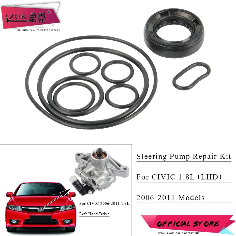 ZUK Power Steering Pump Repair Kit Seal O Ring Gasket Set