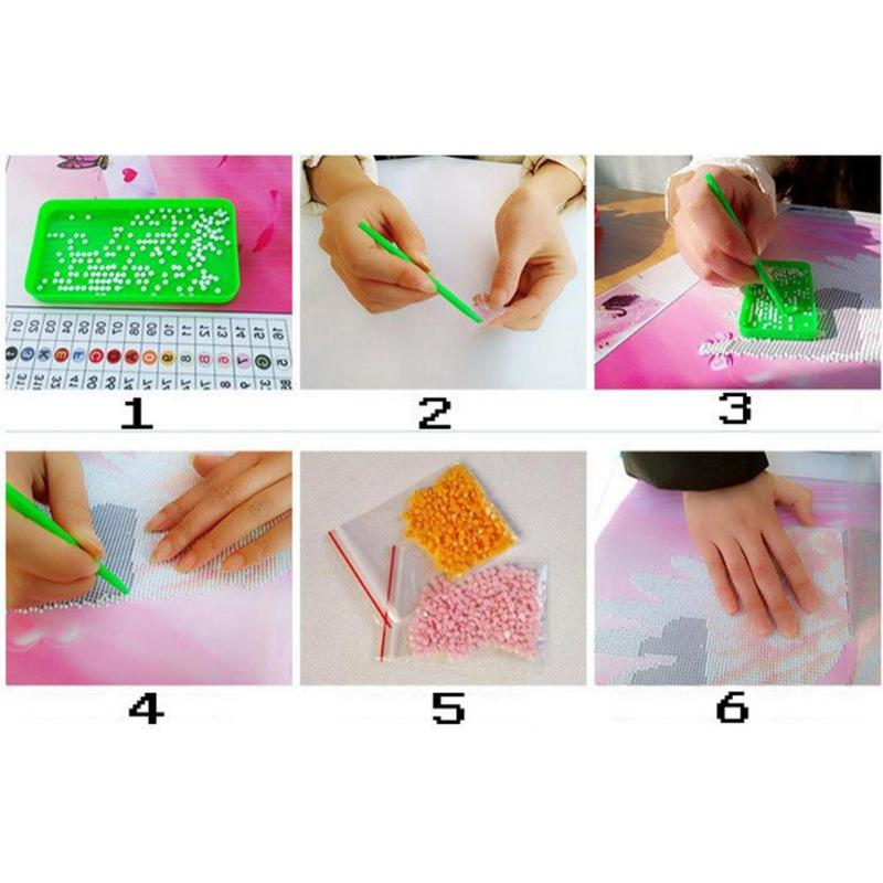 Children DIY Diamond Embroidery Mosaic Painting Pen Kits Kids Cross Stitch Drawing Arts Crafts Tool Accessories Rhinestone Paint