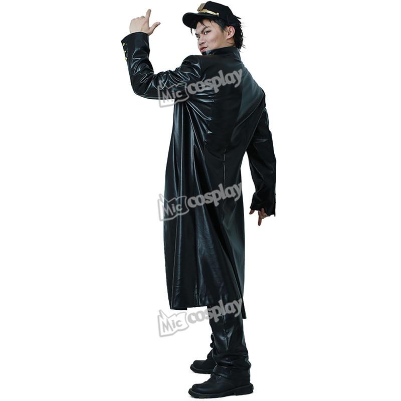 Kujo Jotaro Cosplay Leather Cosplay Anime JoJo's Bizarre Adventure Costume Halloween Party Men Clothing