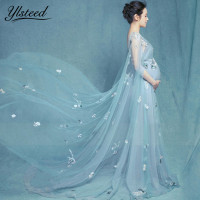 Mesh Pregnancy Dress For Photography Maternity Gown V Neck Sexy Maxi Dresses Maternity Photography Dress Photography Clothing