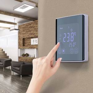 Weekly Programmable Underfloor Heating Thermostat White LCD Touch Screen Room Temperature