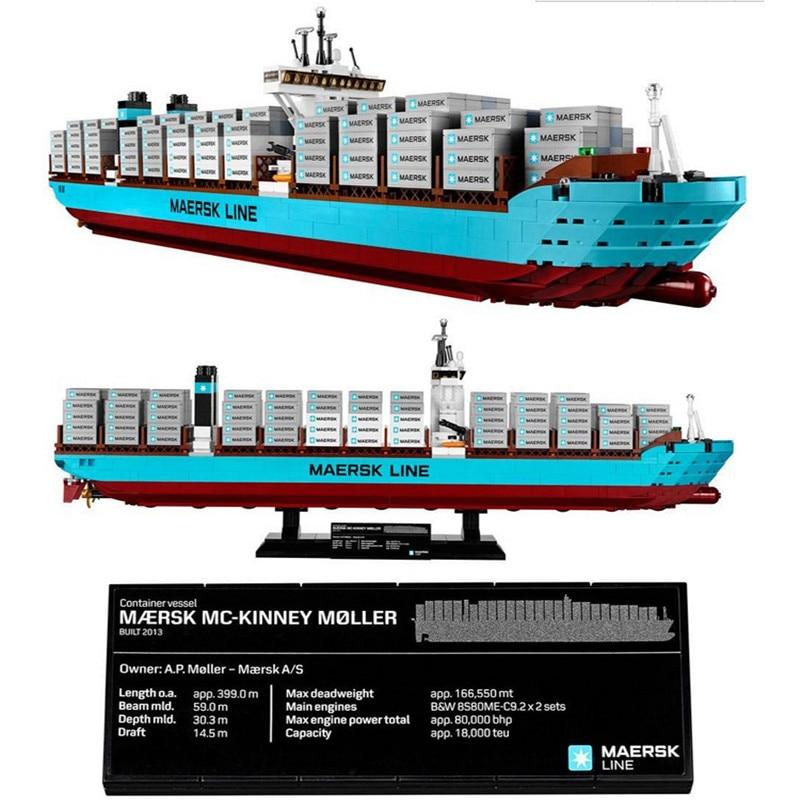 Lepin 22002 1518 Unids Serie Técnica El Maersk Modelo de Barco de Contenedores d