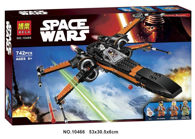 Star Wars Building Blocks Super Heroes  First Order Poe's Star Fighter  The Force Awakens 10466 lecgos building blocks super heroes star wars x wing fighter millennium falcon the force awakens compatible with lecgos
