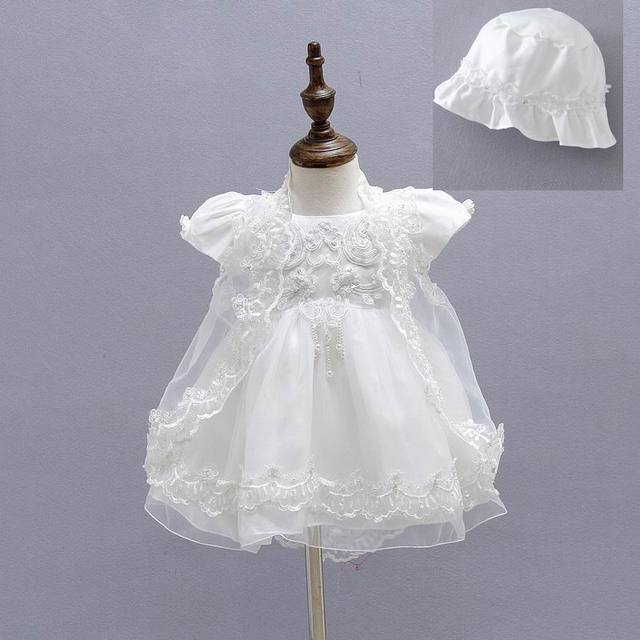 Wholesale 2015 New Baby Baptism Dresses First Birthday Princess Dress 0-18M Dress+Cloak+Hat 1775