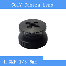 Factory direct infrared HD 1.3MP surveillance camera black button-shaped pinhole lens 6mm M12 thread CCTV lens