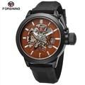 2017 New Fashion Forsining Watch Men Skeleton Luxury Brand Automatic Mechanical Watches Sport Big Crown Model Male Clock