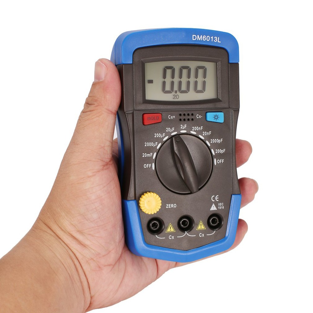 DM6013L Electronics Capacitance Meter Eletronicos esr Electronic Electronica Super Capacitor Tester Capacimetro Digital Meter цены