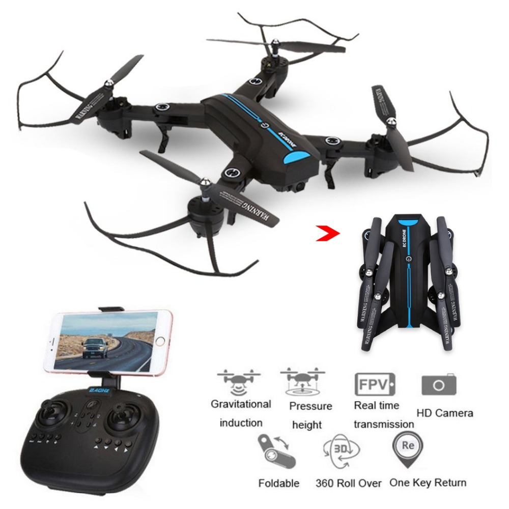 EBOYU A6W / A6 2.4Ghz 2.0MP Wide Angle Selfie Drones Foldable RC Quadcopter Wifi FPV RC Drone Altitude Hold 3D Flips Roll RTF