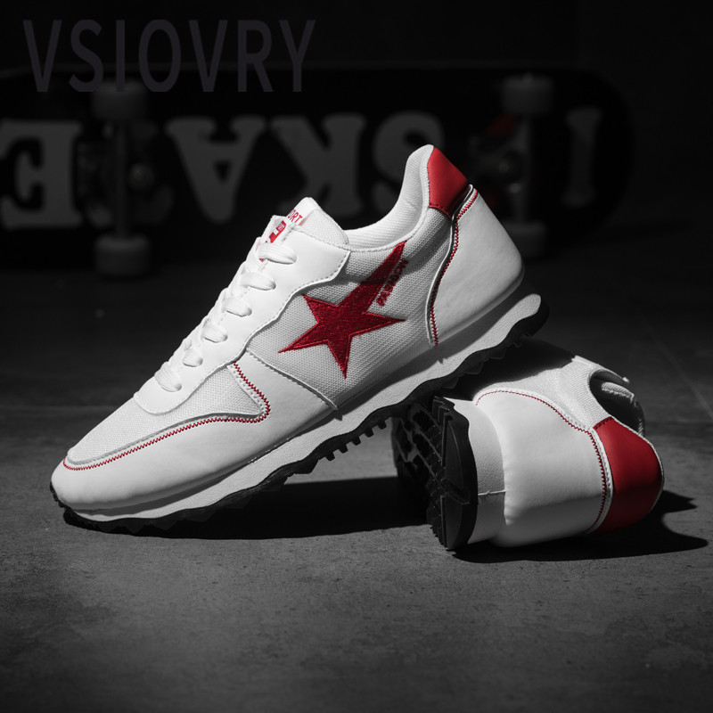 Men's Shoes Men's Casual Shoes Responsible Vsiovry New Fashion Sneakers Men Leather Casual Shoes Luxury Brand Male Flat Sneakers Soft Sole Men Krasovki Summer White Shoes Easy And Simple To Handle