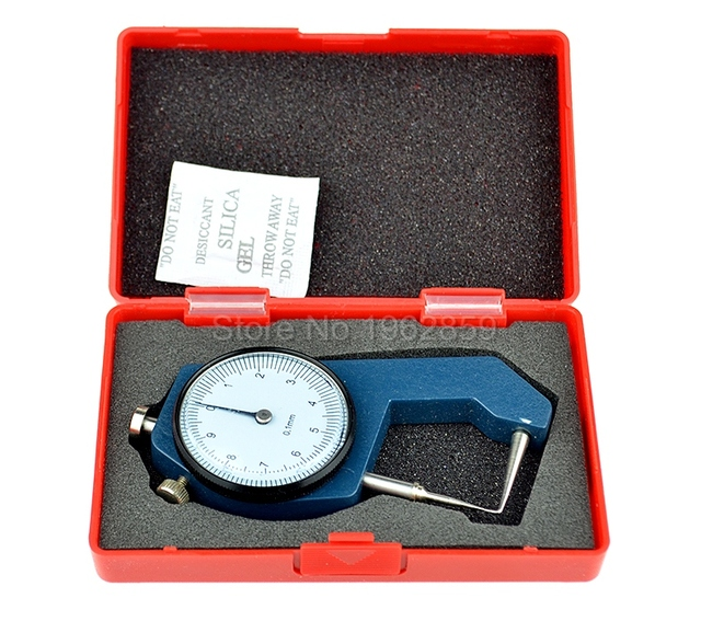 Dental Caliper Thickness Gauge 0-10*0.1mm Caliper with Metal Watch Measuring Thickness Dental Lab Equipments Dentist Tools