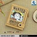 Anime One Piece Curto PU de Zero Carteira/the WANTED Monky D Luffy Coin Purse com Interior Bolso Com Zíper