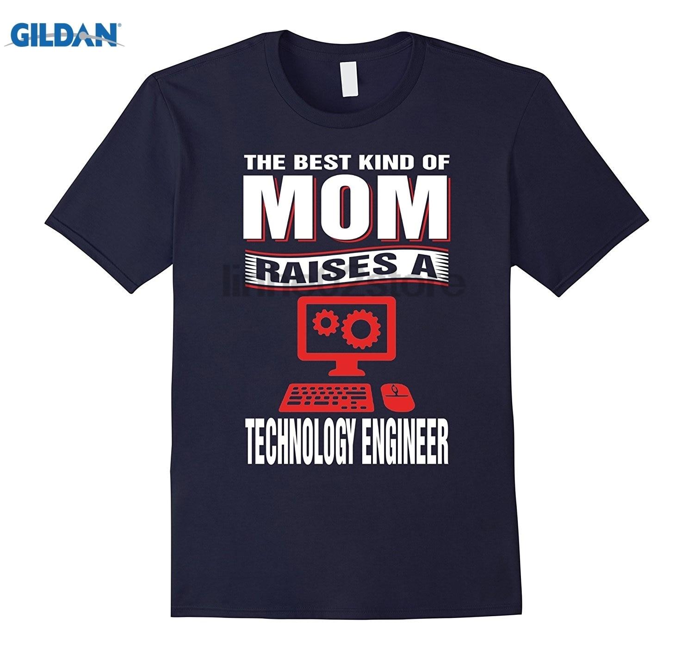 GILDAN best Вид мамы поднимает Технология инженер футболка летнее платье Футболка Горячая Для женщин футболка