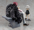 High Quality One Piece Model Collection POP Corazon and Childhood Trafalgar Law Action Figure Sitting Corazon Scene Figure