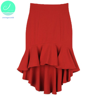 Fashion Women Solid Mermaid Empire Skirts Ladies SexyFishtail Skirt In Summer Waist Before Long After Short