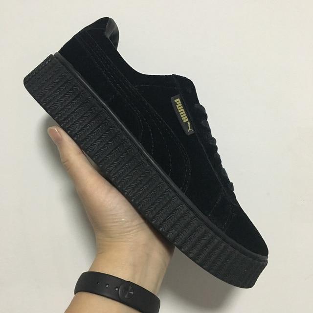 Soled Puma Platform Men And Velvet For Shoes Thick tCwxS18q