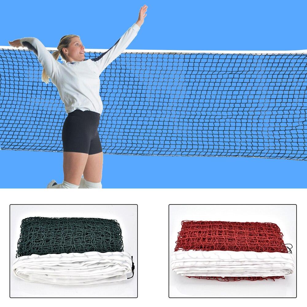 6.1m X 0.75m professionnel Sport formation Standard Badminton filet extérieur Tennis filet maille volley-ball filet exercice livraison directe