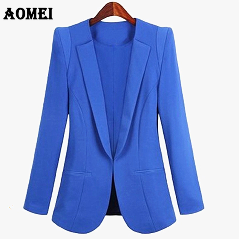 Plus Size Womens Jackets Business Office Lady Suits Autumn All-Match Women Blazers 3XL 4XL Slim Long Sleeve Blaser Female Suit
