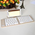 Aluminum 2 in 1 Mini Portable Bluetooth Foldable Keyboard & Stand Holder For Tablet iPad iPhone Samsung Phone