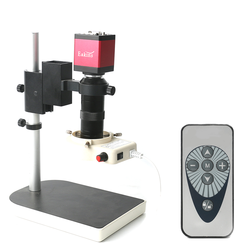Digital HDMI VGA Industrial Video Microscope Camera sets 14MP 1080P 130X C mount lens LED ring