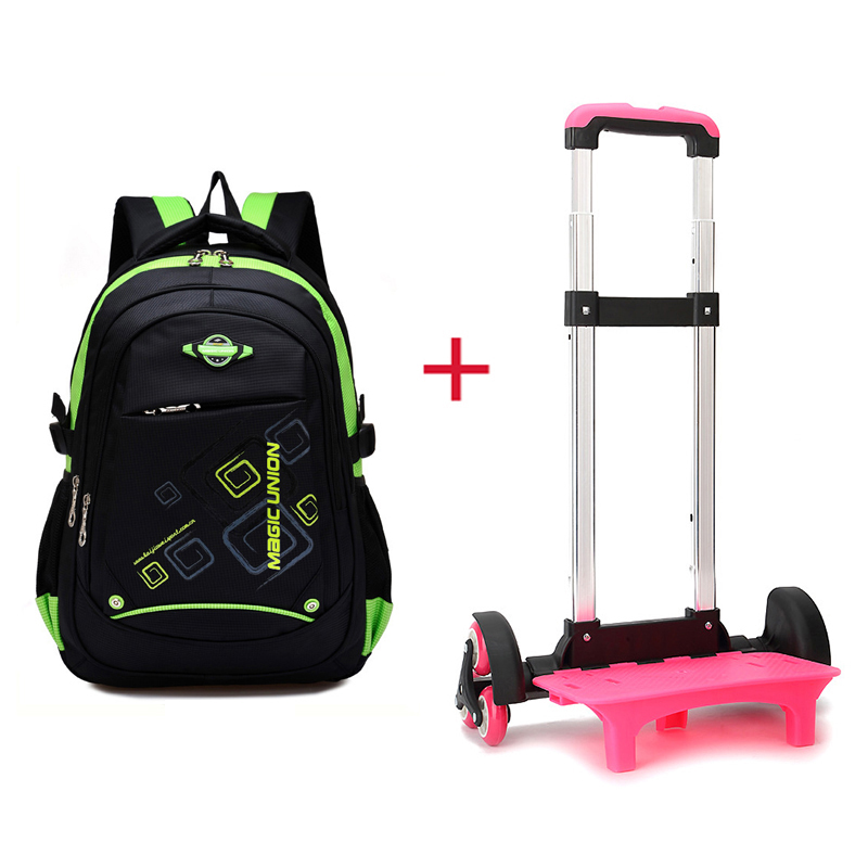 Trolley Backpack Schoolbag Kids Children New Nylon Lighten Luggage Burden