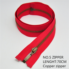 1pcs NO.5 high-grade zipper DIY sewing accessories 70 cm long copper zipper chain teeth suitable for use in clothes, skirts etc.