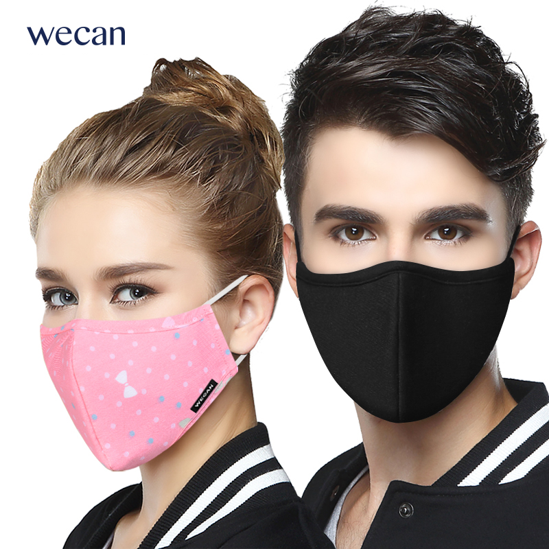 Wecan Hot Sale 24 Colors Cotton Anti-Fog Mouth Mask Man Women Cycling Anti-Dust Mask Facial Protective Face Mouth Half Mask платок в полоску флуоресцентный