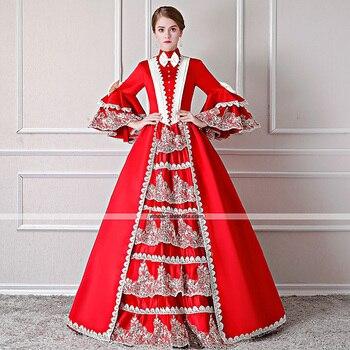 Santa Suit Renaissance Costume Women's Dress / Outfits / Party Costume Red / White Vintage  Reenactment Theatre Clothing Costume