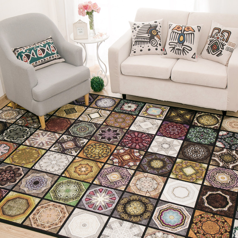 Original Vintage Exotic Fashion Patterned Carpet For
