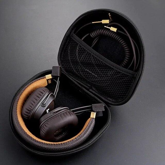 Headphone Trường Hợp Túi Cứng Cho Marshall Major I ii 1 2 Bluetooth Tai Nghe Tai Nghe Phụ Kiện Dây Kéo Hộp cho Marshall Giữa trường hợp