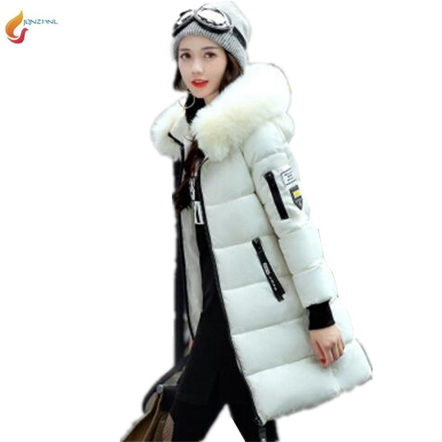 060798a6775 US $26.0 49% OFF|New Women winter coat medium long thick large size down  cotton jacket hooded Fur collar Cotton padded jacket Parker OvercoatG742-in  ...