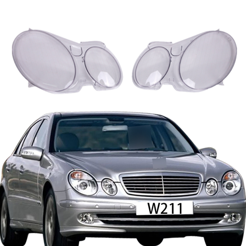 For Mercedes W211 Car Headlight Lens Front HeadLamp Cover Benz E Class E350 E320 E500 2006 2007 2008 PD554 for chevrolet lova optra 2006 2007 2008 car headlight headlamp clear lens shell cover driver