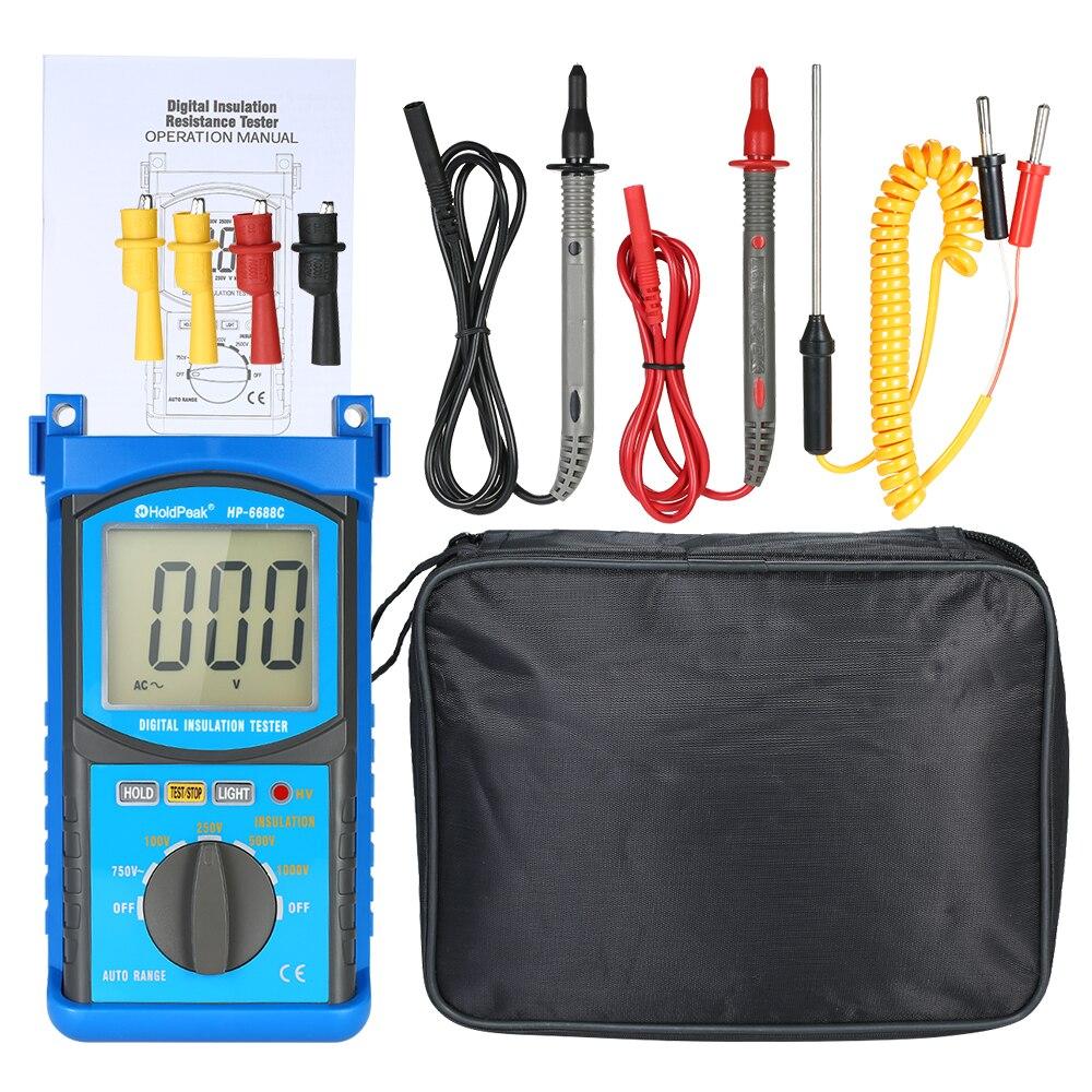 HoldPeak numérique automobile moteur analyseur multimètre tension compteur de courant capacité résistance testeur voltmètre ampèremètre
