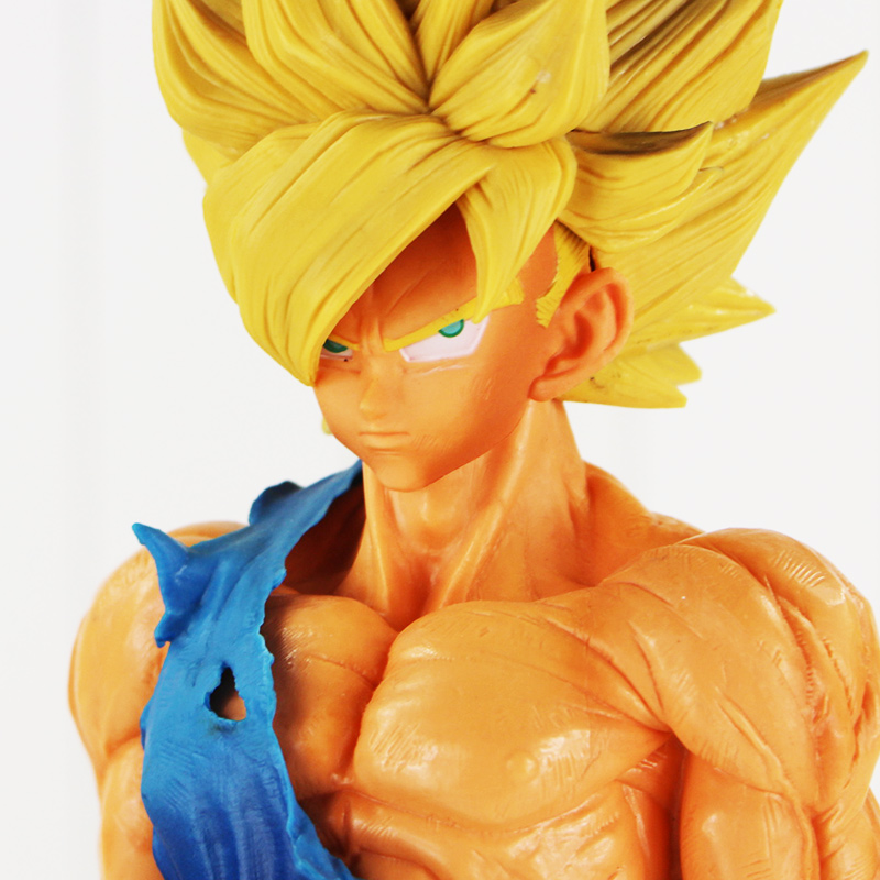 35cm Dragon Ball Z Big Size Sun Goku Super Saiyan PVC Action Figure Collectible Model Toy Doll Birthday Gift juguetes dragon ball z black vegeta trunks pvc action figure collectible model toy super big size 44cm 40cm