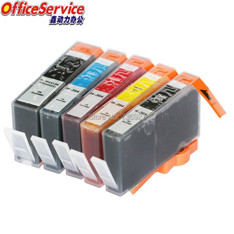 Compatible ink Cartridge For HP364 <font><b>HP</b></font> <font><b>364xl</b></font>, for Photosmart C5324 C5370 C5373 C5380 C5390 C5393 C6300 C6324 C6380 printer image