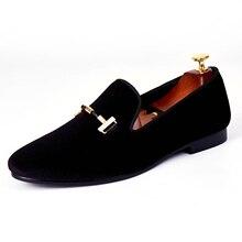 Harpelunde пользовательские Мужская обувь Черная обувь на выход Туфли с ремешком и пряжкой бархатные Лоферы размеры 7–14