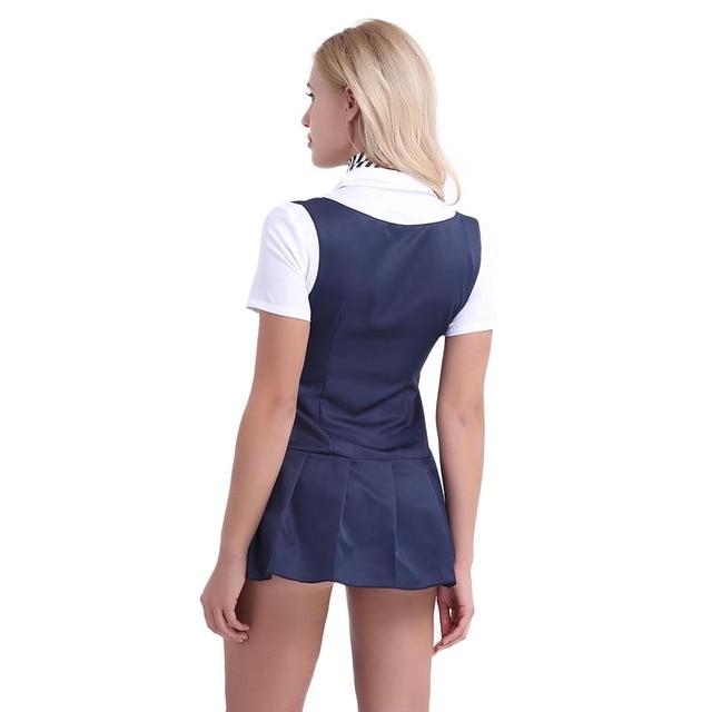Sexy Cosplay Schoolgirl Costume Short Sleeve 3