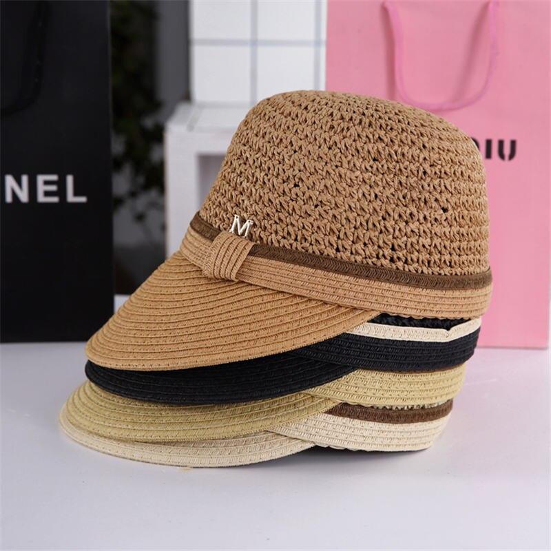 NEW Fashion Star Empty Top Caps Visor Straw Sun Hats For Women Men Summer Sun  Hat Foldable High Quality Beach Hat Wholesale C 95aa3e4fa56
