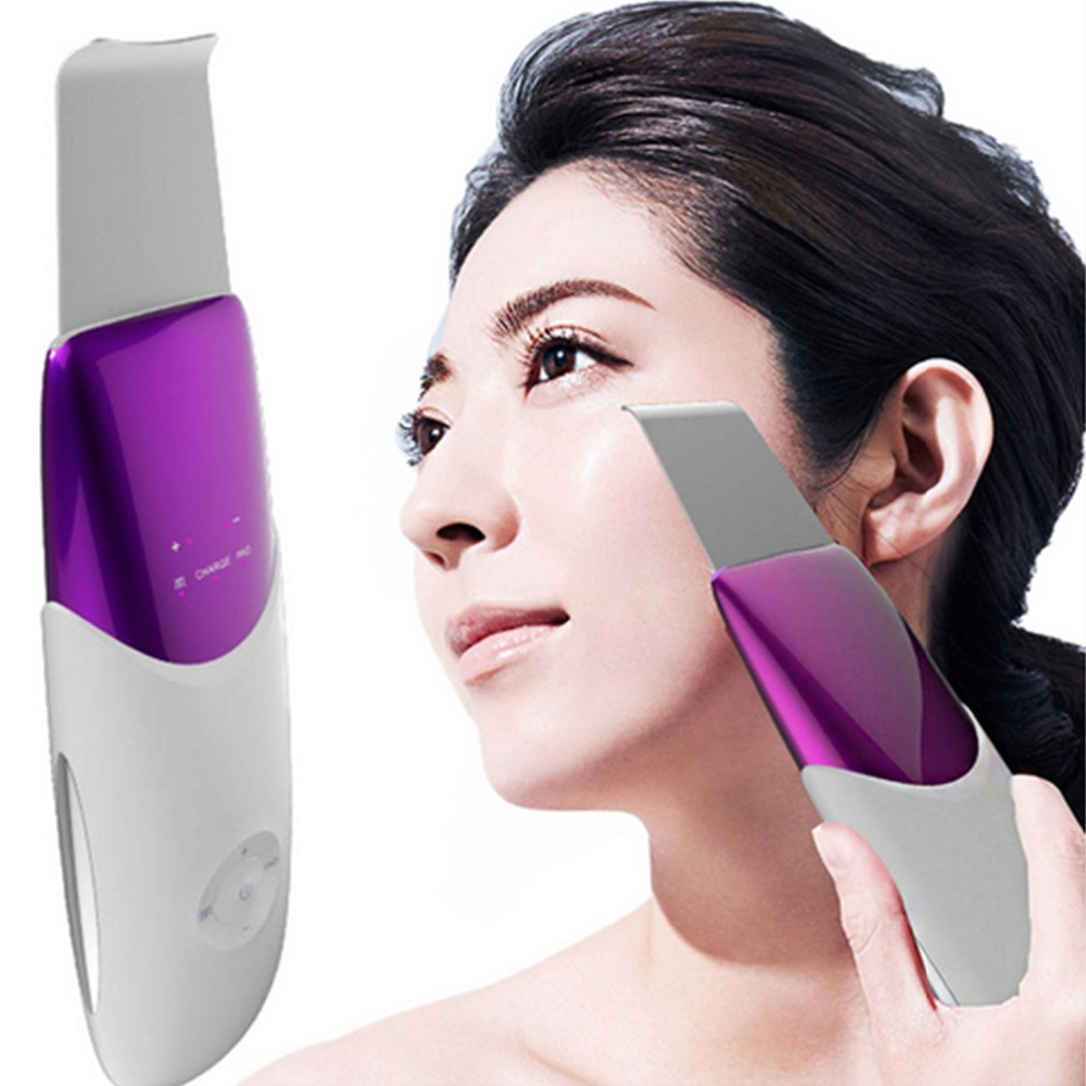 Ultrasonic Facial Scrubber Skin Scrubber Ultrasound Facial Pore Cleaner Anion Ultrasonic Face Skin Peeling Lifting Massager portable skin scrubber ultrasonic massager ultrasound facial peeling cleaner au plug