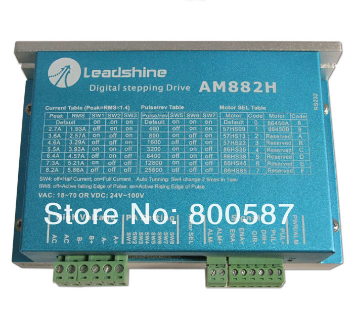 Leadshine 2 phase High precision stepper drive AM882H Digital step motor driver 2pcs lot leadshine 2 phase high precision stepper drive am882