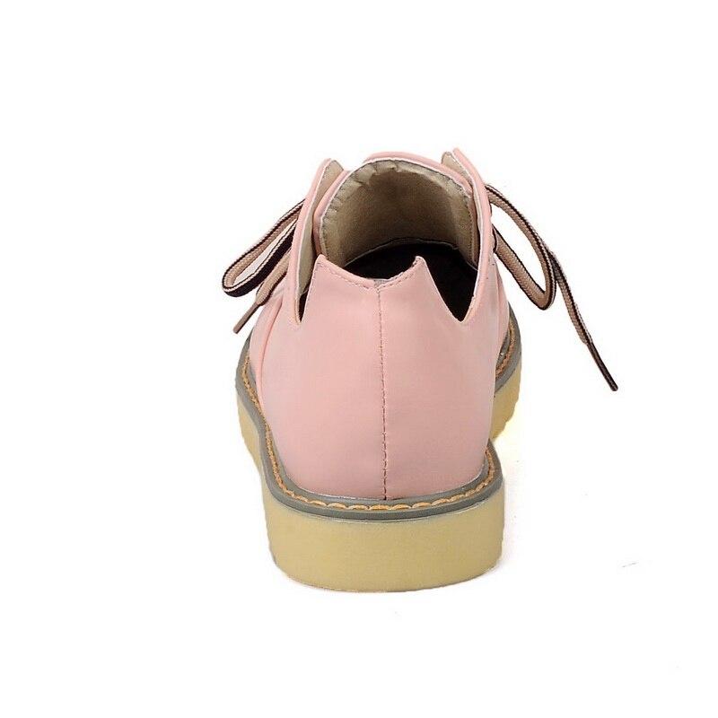 Bombas Estilo Tamaño pink Cabeza Redonda Gran Mujeres Tacón Casual Zapatos Beige Las Encaje Cómodo Rosa Cuñas Yellow Amarillo Plataforma beige De Moda Bajo nqgrqI