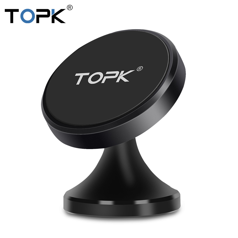 TOPK Magnetic Holder For IPhone Xs Max 8 7 6 Air Vent Mount Holder Stand For Phone In Car Universal Mobile Phone Holder Stand