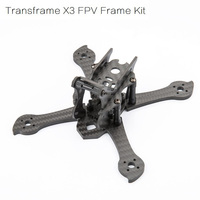 iFlight 3K Carbon Fiber Transframe X3 True X 140mm FPV Racing Frame Kit with 4mm arm compatible 1306/1407/1606 motor for FPV kit
