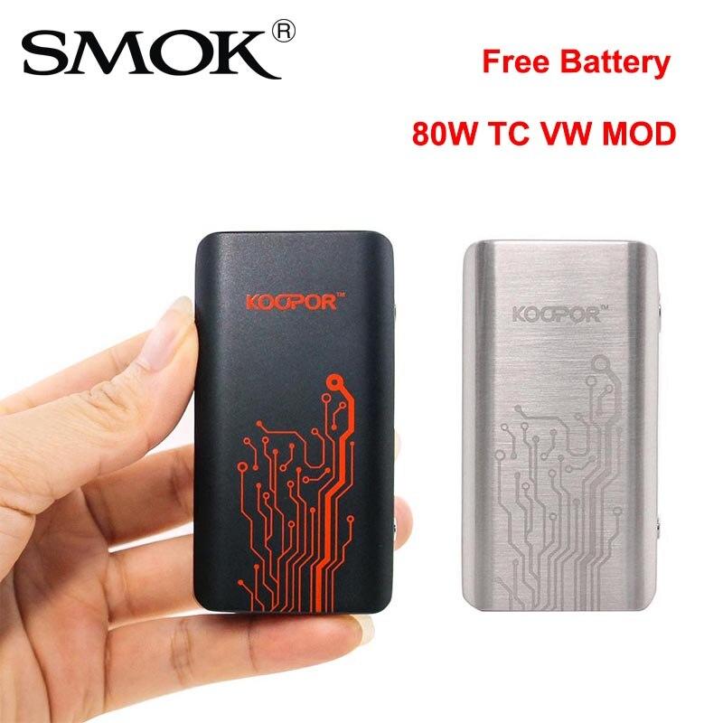 US $15 99 |100% Original SMOK KOOPOR MINI 2 Mod 80W TC VW Vape MOD  Temperature Control Electronic Cigarette Koopor Mini For 510 Thread Tank-in
